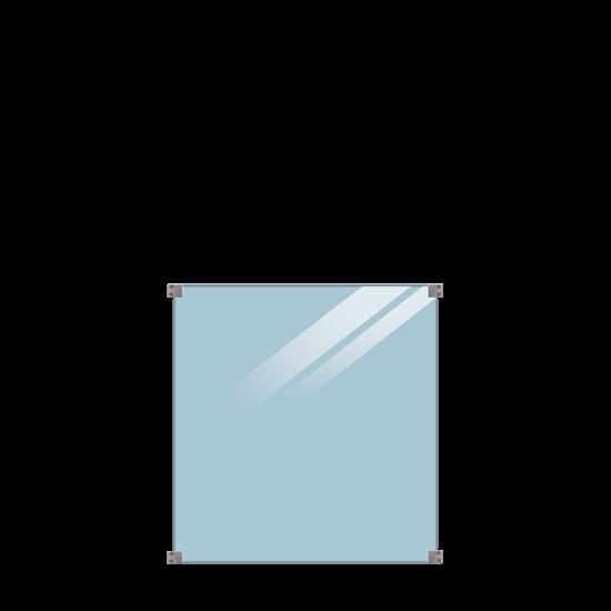 Geharde Glasplaat Helder Glas 90 x 91 CM 175393-1