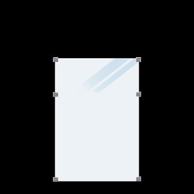 Geharde Glasplaat Mat Glas 90 x 127 CM