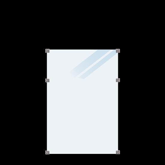 Geharde Glasplaat Mat Glas 90 x 127 CM 175365-1