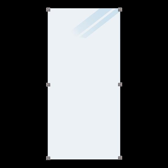 Geharde Glasplaat Mat Glas 90 x 180 CM 175355-1