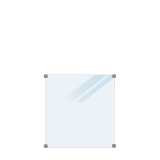 Geharde Glasplaat Mat Glas 90 x 91 CM