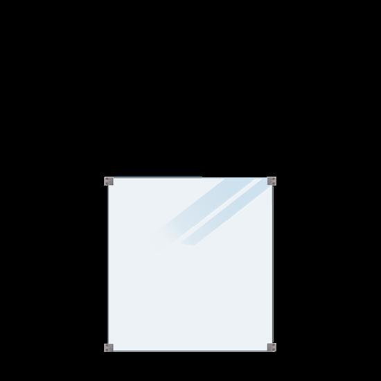 Geharde Glasplaat Mat Glas 90 x 91 CM 175395-1