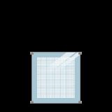 Geharde Glasplaat Zeefdruk 90 x 91 CM