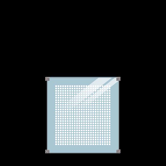 Geharde Glasplaat Zeefdruk 90 x 91 CM 175403-1