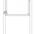 Glazen Tuinpoort Gehard Gelaagd Mat Glas 99 x 91 CM + 16 CM Stalen Palen Voor In Beton - Links Opgehangen 17663-1