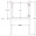 Glazen Tuinpoort Gehard Gelaagd Mat Glas 99 x 91 CM + 16 CM Stalen Palen Voor In Beton - Rechts Opgehangen 17662-1