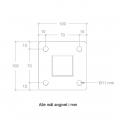 Stalen Paal Met Voetplaat 4,5 x 4,5 x 95 CM 20401-1