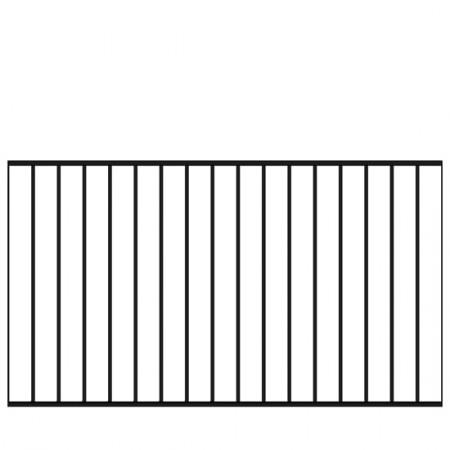 Spijlenhekwerk Zwart 150 x 85 CM