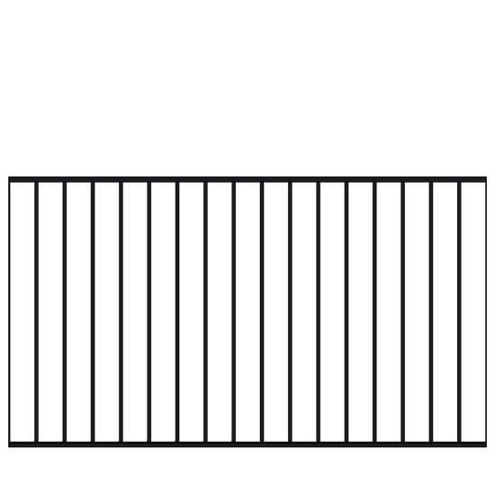 Spijlenhekwerk Zwart 150 x 85 CM 17555-15 PRE-ORDER