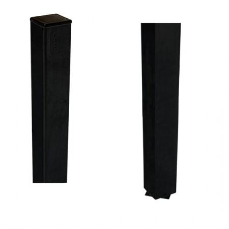 Stalen Paal Zwart Voor In Beton 4,5 x 4,5 x 186 CM