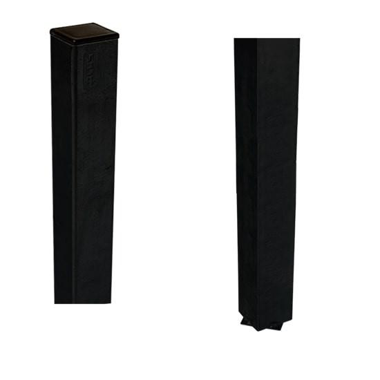 Stalen Paal Zwart Voor In Beton 4,5 x 4,5 x 186 CM 20406-15