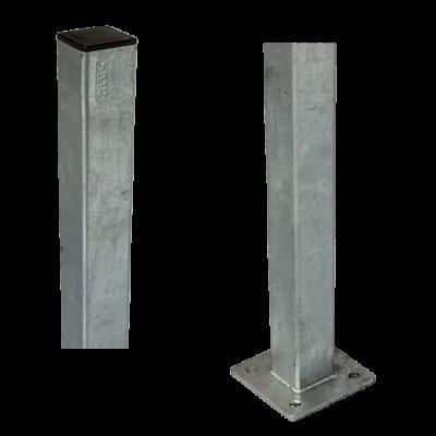 Stalen Paal Met Voetplaat 4,5 x 4,5 x 95 CM