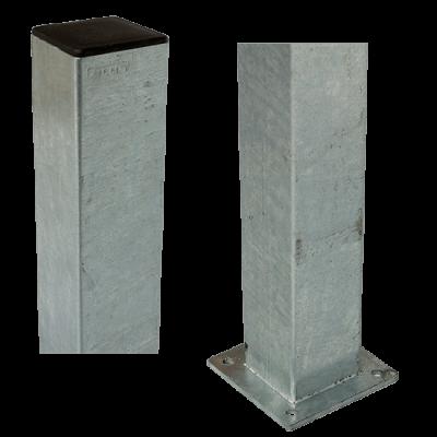 Stalen Paal Met Voetplaat 8 x 8 x 132 CM