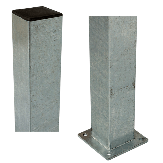 Stalen Paal Met Voetplaat 8 x 8 x 96 CM 20391-1