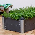 Lage Rechthoekige Plantenbak Buiten Zwart PIPE30A