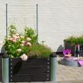 Rechthoekige Plantenbak Buiten Zwart PIPE8A