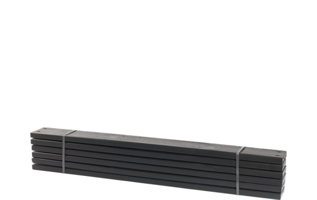 Zwarte Planken 6 Stuks - 120 CM 17808-15