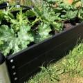 Lange Houten Plantenbak Buiten Zwart PIPE10A