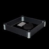 Zwarte Zandbak 140 x 140 CM