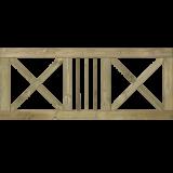 Tuinhek Met Kruis Slot 180 x 75 CM