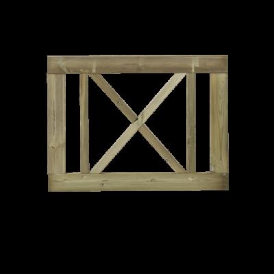 Tuinhek - Poort Met Kruis Rom 100 x 75 CM