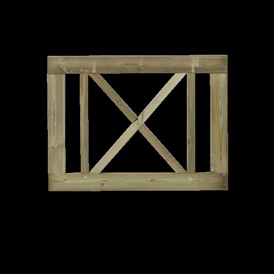 Tuinhek - Poort Met Kruis Rom 100 x 75 CM 920521