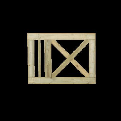 Tuinhek - Poort Met Kruis Slot 100 x 75 CM