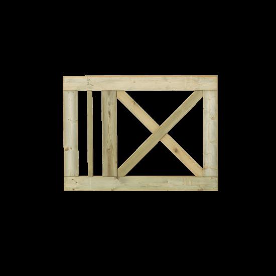 Tuinhek - Poort Met Kruis Slot 100 x 75 CM 921467