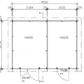 Dubbele Tuinschuur - 15M² 65054-1