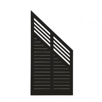 Zwart Houten Tuinscherm Met Schuine Kant Decora 90 x 180/95 CM