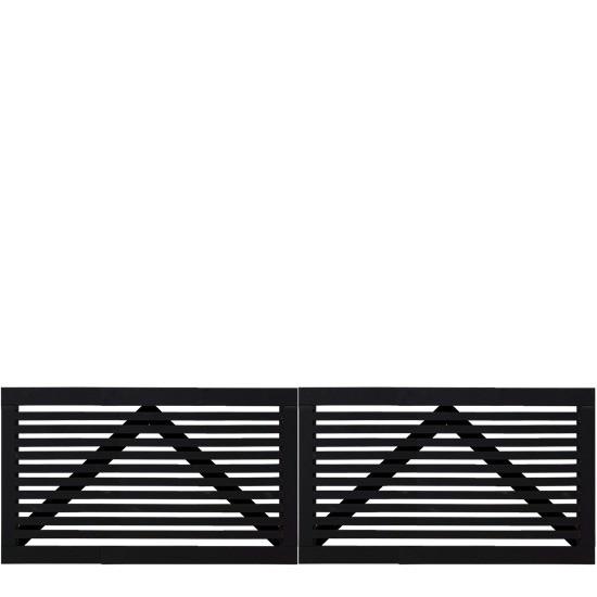 Zwart Houten Dubbele Tuinpoort Tokyo 300 x 90 CM 17405-15