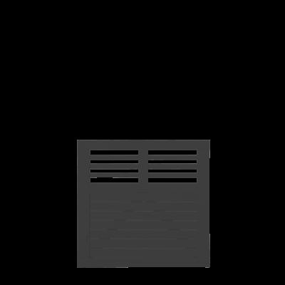 Zwart Houten Tuinpoort Decora 100 x 95 CM