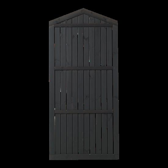 Zwart Houten Tuinscherm Met Punt Atrium 90 x 180/199 CM 15412-15