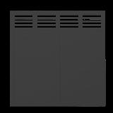 Zwart Houten Tuinscherm Decora 180 x 180 CM