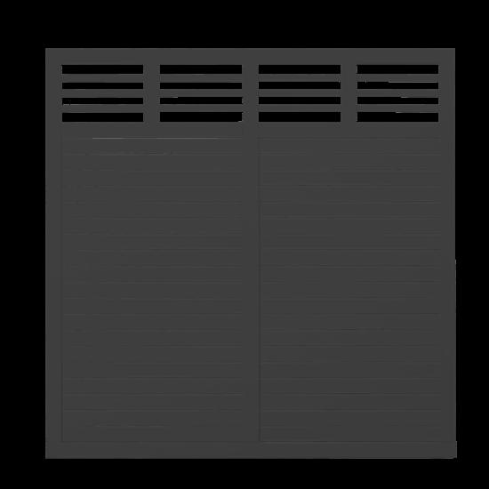 Zwart Houten Tuinscherm Decora 180 x 180 CM 17624-15 PRE-ORDER