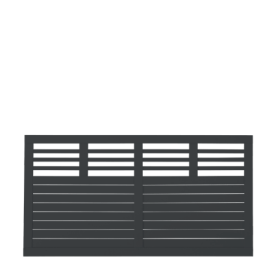 Zwart Houten Tuinscherm Decora 180 x 95 CM