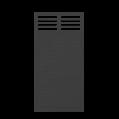 Zwart Houten Tuinscherm Decora 90 x 180 CM