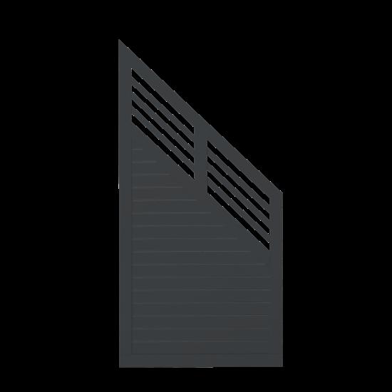 Zwart Houten Tuinscherm Met Schuine Kant Decora 90 x 180/95 CM 17629-15
