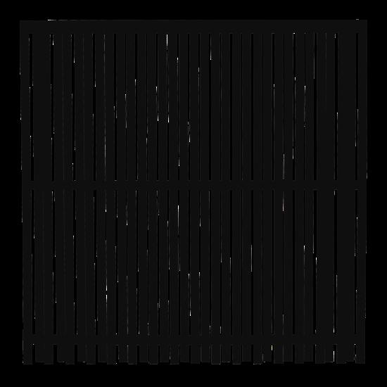 Zwart Houten Tuinscherm Nagano 180 x 180 CM 17474-15 PRE-ORDER Minimale afname 5 schermen in de mix