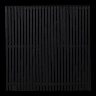 Zwart Houten Tuinscherm Sendai 180 x 180 CM