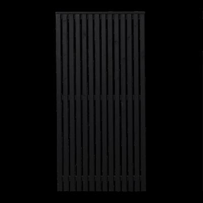 Zwart Houten Tuinscherm Sendai 90 x 180 CM