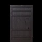 Zwart Houten Tuindeur Rustik 100 x 158 CM