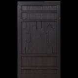 Zwart Houten Tuindeur Rustik 100 x 180 CM