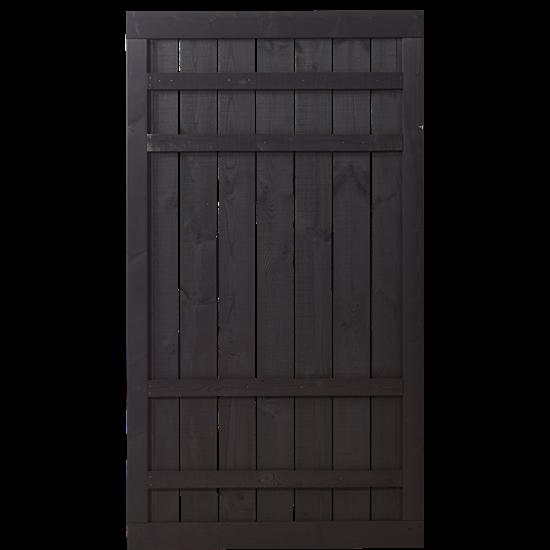 Zwart Houten Tuindeur Rustik 100 x 180 CM 17548-15