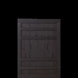 Zwart Houten Tuinpoort Rustik 100 x 138 CM