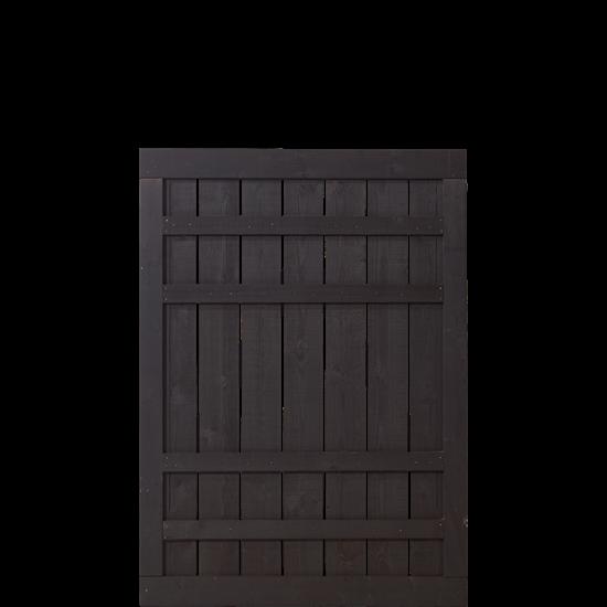 Zwart Houten Tuinpoort Rustik 100 x 138 CM 17546-15