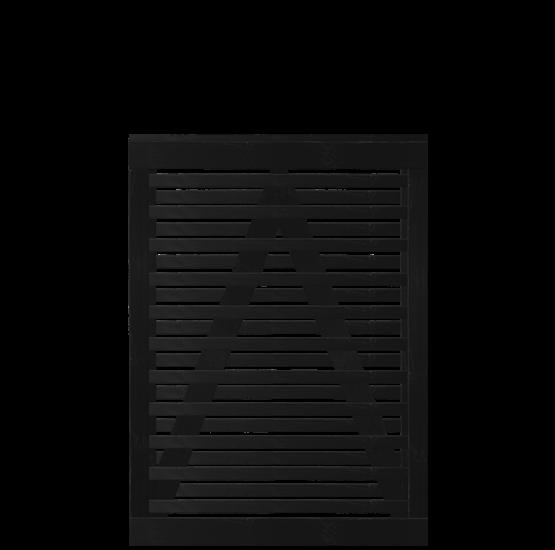 Zwart Houten Tuinpoort Osaka 100 x 136 CM 17461-15 Minimale afname 5 schermen in de mix