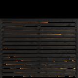 Zwart Houten Tuinscherm Kyoto 160 x 120 CM