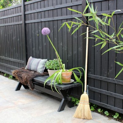 Zwarte Tuinschermen Rustik