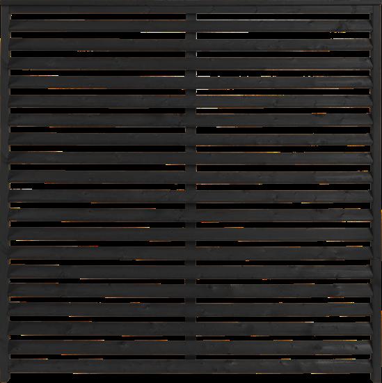Zwart Houten Tuinscherm Kyoto 160 x 160 CM 19110-15 Minimale afname 5 schermen in de mix